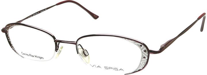Bordeaux Geometric Half-Rim Eyeglasses