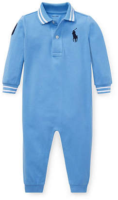 Ralph Lauren Baby Boy's Cotton Mesh Polo Coverall