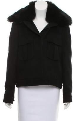 Ramy Brook Jesse Faux-Fur Trimmed Jacket
