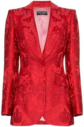 Dolce & Gabbana brocade single breasted silk blend jacket