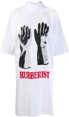 Christopher Kane Rubberist' tie jersey dress