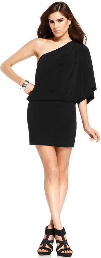 Jessica Simpson One-Shoulder Party Dress