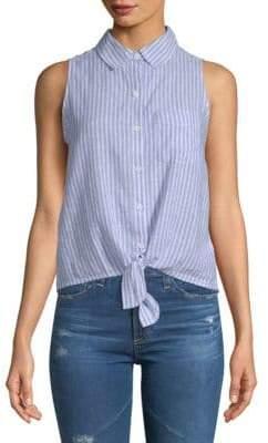 Stripe Tie-Front Top