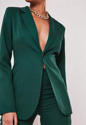 Missguided Tall Green Co Ord Skinny Blazer