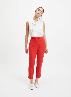 Miss Selfridge PETITE Red High Waist Cigarette Trousers