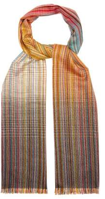 Paul Smith Stripe Wool Blend Scarf - Mens - Multi