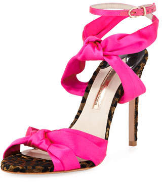 Sophia Webster Violette Satin High Sandals