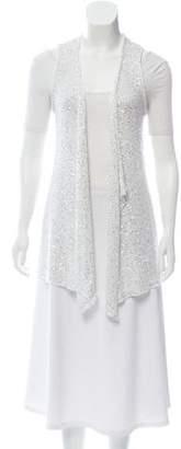 Calypso Sleeveless Open-Knit Cardigan