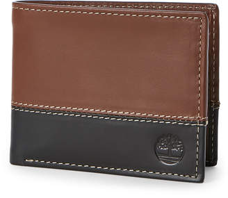 Timberland Hunter Two-Tone Leather Commuter Wallet