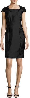 Armani Collezioni Radzimir Cap-Sleeve Sheath Dress, Black $1,295 thestylecure.com