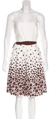 Carmen Marc Valvo Knee-Length Polka Dot Dress