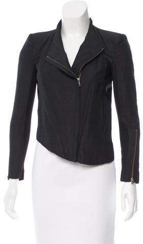 Helmut LangHelmut Lang Mesh Accented Asymmetrical Jacket