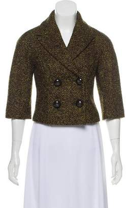 Michael Kors Tweed Double-Breasted Jacket