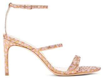 Sophia Webster Rosalind Metallic Leopard Print Sandals - Womens - Gold Multi