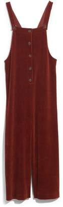 Madewell Texture & Thread Velour Corduroy Overalls