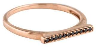 Black Diamond Dana Rebecca Designs 14K Sylvie Rose Bar Ring
