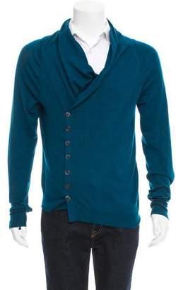 Alexander McQueen Asymmetrical Wool Cardigan