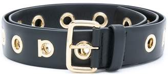 Salvatore Ferragamo belt with eyelets
