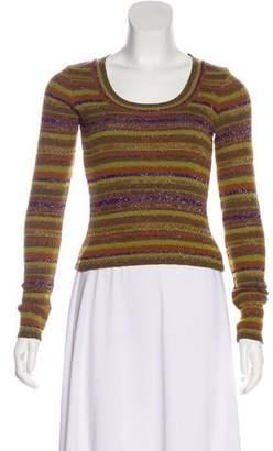 Christian Lacroix Bazar de Metallic Knit Sweater