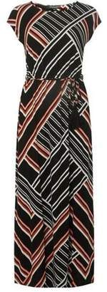 Dorothy Perkins Womens Multicoloured Geometric Print Tassel Tie Maxi Dress