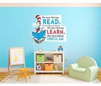 Dr. Seuss Cat in the Hat Inspirational Quote Giant Wall Decal