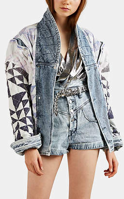 Isabel Marant Women's Rany Reversible Denim Moto Jacket - Lt. Blue