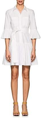 Derek Lam 10 Crosby WOMEN'S COTTON POPLIN PEPLUM DRESS - WHITE SIZE 4