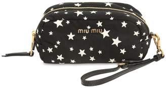 e02101ce12f Miu Miu Star Printed Nylon Cosmetic Case
