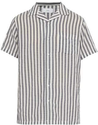 Onia Vacation Striped Shirt - Mens - White Multi