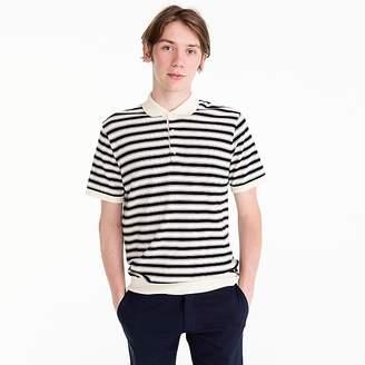 J.Crew Pima cotton short-sleeve sweater polo in stripe