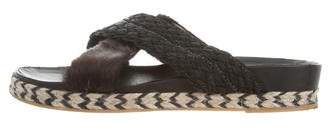 Mr & Mrs Italy Crisscross Slide Sandals