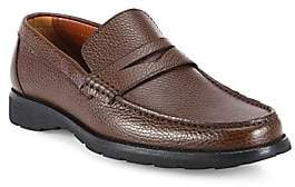 ac87ee583ce a. testoni Men s Pebbled Leather Penny Loafers