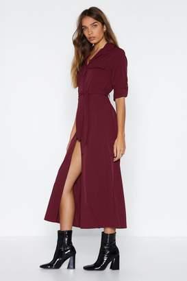 Nasty Gal Midi of the Road Shirt Dress