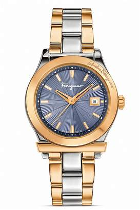 Salvatore Ferragamo 1898 Two Tone Bracelet Watch, 33mm $1,395 thestylecure.com