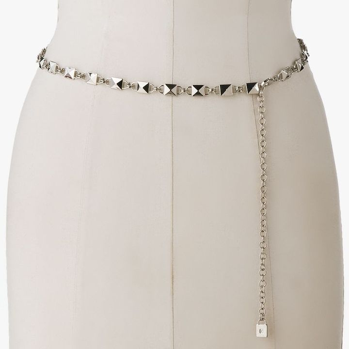 Chaps square pyramid chain belt