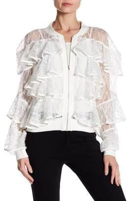 Gracia Lace Ruffled Jacket