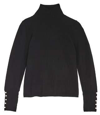 Bardot Junior Girls' Embellished Mock-Neck Sweater - Little Kid