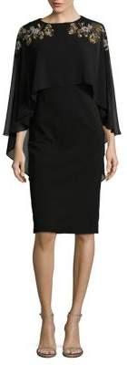 Betsy & Adam Embellished Knee-Length Dress
