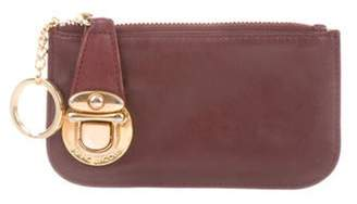 Marc Jacobs Leather Coin Purse gold Leather Coin Purse
