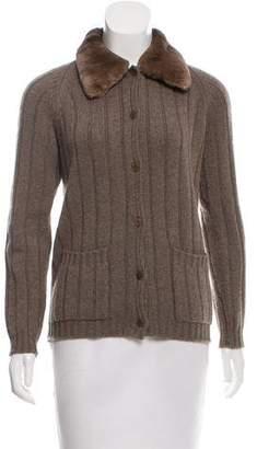 Bergdorf Goodman Button-Up Cashmere Cardigan