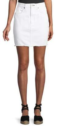 Rag & Bone Moss Classic Denim Skirt w/ Released Hem