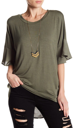 Pleione Oversized Mixed Media Tee $42 thestylecure.com
