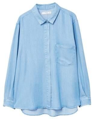 MANGO Pocket soft shirt
