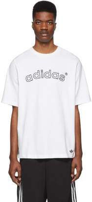 adidas White Archive Logo T-Shirt