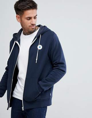 Converse Chuck Patch Zip Hoodie In Navy 10004627-A01