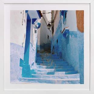 Streets of Chefchaouen II Art Print