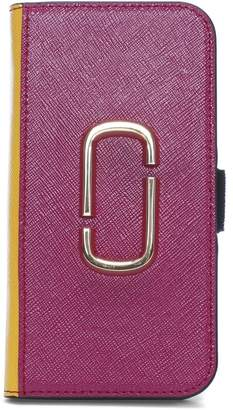 Marc Jacobs Snapshot Magenta Multi Cross Grain Leather iPhone 7/8 Case