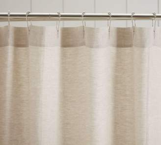 Pottery Barn Linen Ruffle Shower Curtain