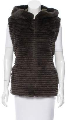 Glamour Puss Glamourpuss Fur-Paneled Down Vest w/ Tags