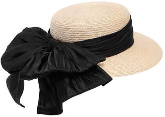 Eugenia Kim Brigitte Boater Hat W/ Satin Bow